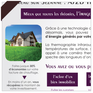 Création flyer A5 - AJ2B Thermographie - thermographie